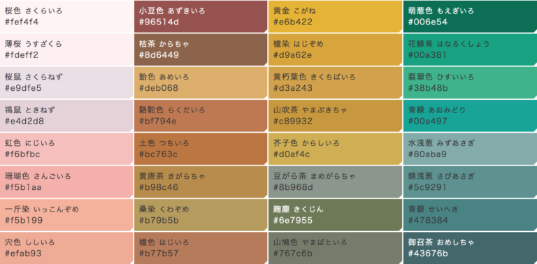 色見學-日本傳統色-和色大辭典