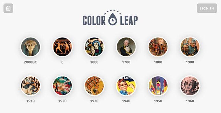 配色工具-Color Leap-History's Palettes_s